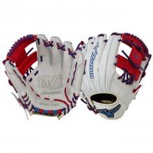 Mizuno MVP Prime SE GMVP1154PSE3 Infield Glove(Silver/Red)