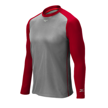 Mizuno Pro Breath Thermo Training Top(Grey/Red_) - Adult