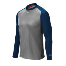 Mizuno Pro Breath Thermo Training Top(Grey/Navy) - Adult
