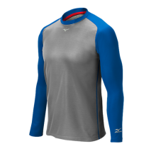 Mizuno Pro Breath Thermo Training Top(Grey/Royal) - Adult