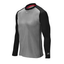 Mizuno Pro Breath Thermo Training Top(Grey/Black) - Adult