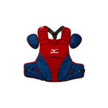 Mizuno Adult Samurai Catcher's Chest Protector(RED-NAVY)