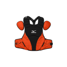 Mizuno Adult Samurai Catcher's Chest Protector(BLACK-ORANGE)