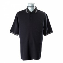 Adams USA Smitty Umpire Shirt with Front Chest Pocket - BLACK