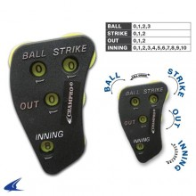 Champro 4-DIAL Umpire Indicator (Black/Optic Yellow)