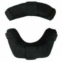 Diamond Umpire's Face Masks FM-RP Leather Replacement Pads (All Black)