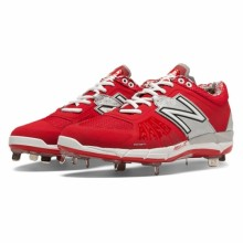 New Balance L3000TR2 - Red/Silver Low 3000v2 Baseball Cleats