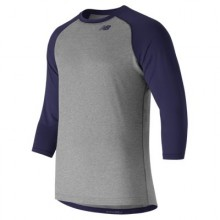 New Balance 3/4 Baseball Raglan Top (Navy)