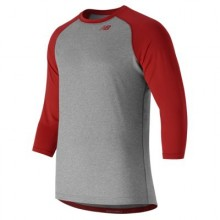 New Balance 3/4 Baseball Raglan Top (Red)